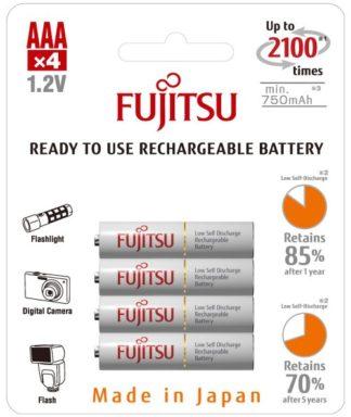 Fujitsu aaa ladattava paristo