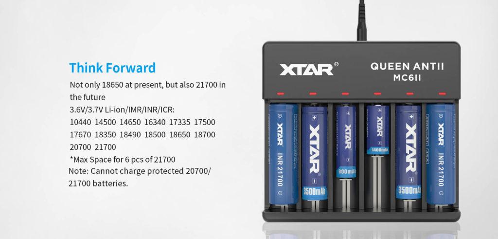 Xtar MC6 laturi li-ion 18650