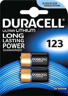 Kameran paristo Duracell CR123