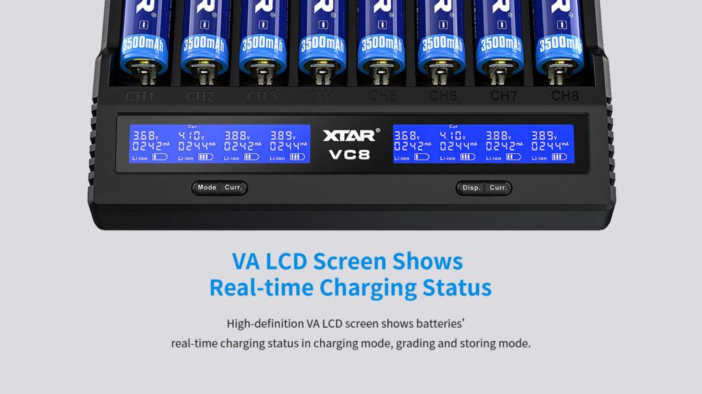 LCD näyttö akkulaturi