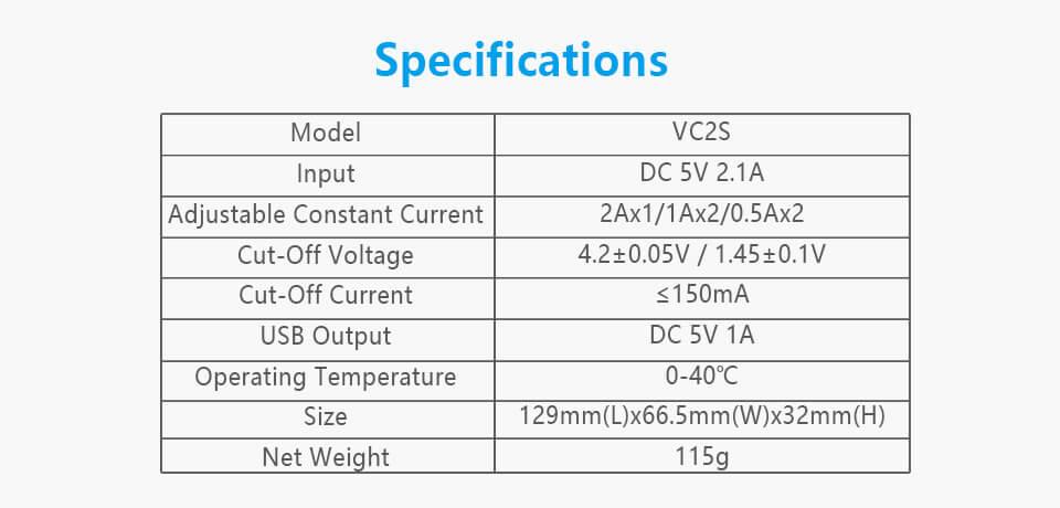 Xtar VC2S akkulaturi ominaisuudet