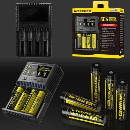Nitecore SC4 suberb charger akkulaturi